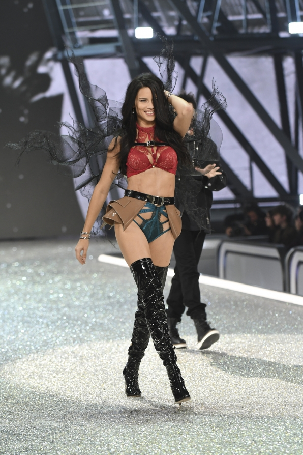 We spy Adriana Lima getting a head start on The Weeknd.