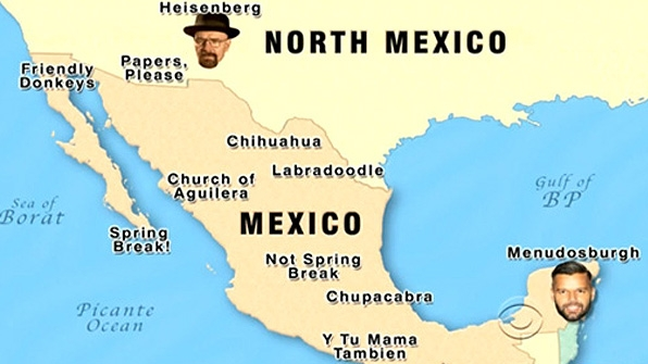 14 Late Late Show Maps to Teach You World Geography The Late – Show Mexico on World Map