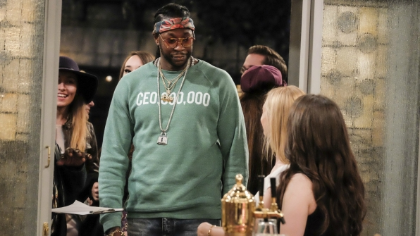 2 Chainz shows up for the opening of the Dessert Bar.