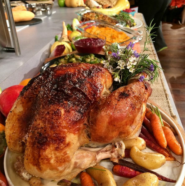 2. Cooking a Thanksgiving dinner with Wolfgang Puck