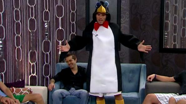 Enzo Palumbo's penguin costume
