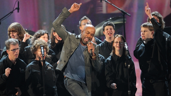 "16. Darius Rucker performs ""Music From The Heart"" at the 46th ACM Awards in 2011."