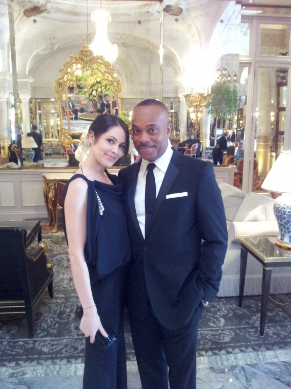 Rocky Carroll and Michelle Borth