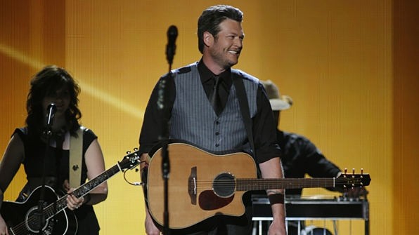 """33. Blake Shelton performs """"You Are"""" at the 47th ACM Awards in 2012."""