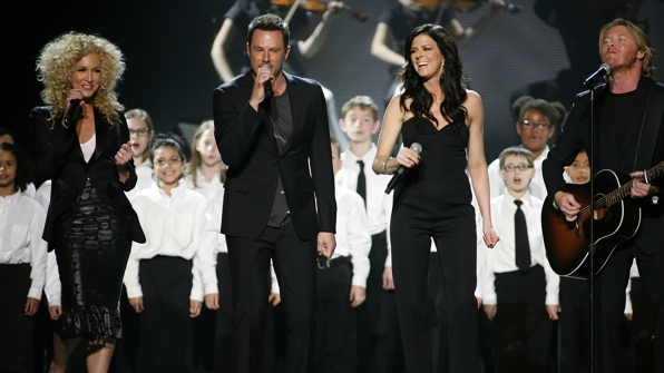 """38. Little Big Town perform """"Here's Hope"""" at the 47th ACM Awards in 2012."""