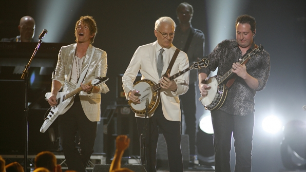 "10. Rascal Flatts and Steve Martin perform ""Banjo"" at the 47th ACM Awards in 2012."