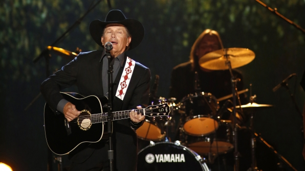"""22. George Strait performs """"Give It All We Got Tonight"""" at the 48th ACM Awards in 2013."""