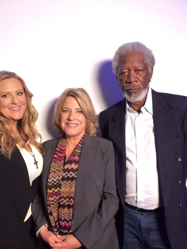 Morgan Freeman, Barbara Hall and Lori McCreery - Madam Secretary