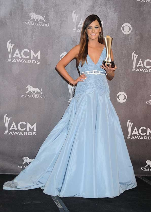 Kacey Musgraves kept it cool in pale blue at the 49th Annual Academy of Country Music Awards.