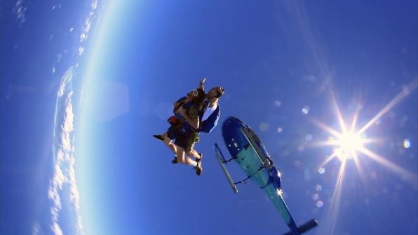 Chuck in the air
