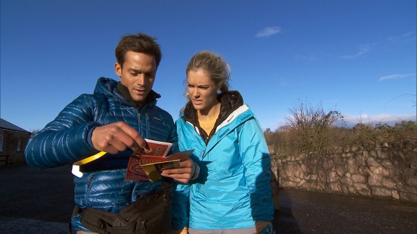 "Max and Katie in the season finale of The Amazing Race ""Beacon of Hope"""