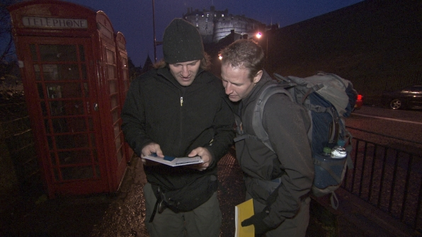 "Bates and Anthony in the season finale of The Amazing Race ""Beacon of Hope"""