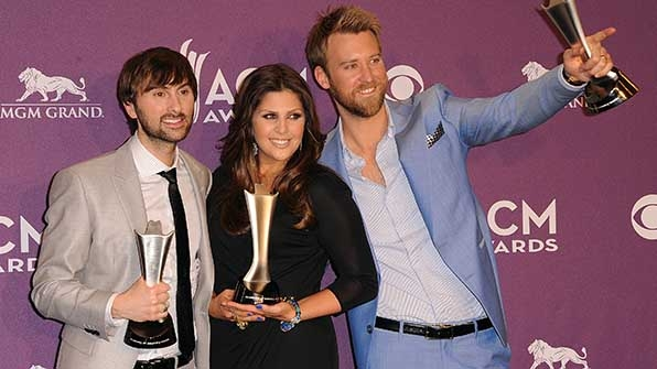 Dave Haywood, Hillary Scott, and Charles Kelley had the most awesome accessories at the 47th Annual Academy of Country Music Awards.