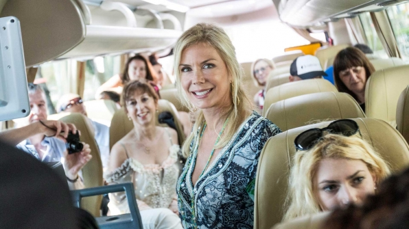 Katherine Kelly Lang takes a bus tour with fans.