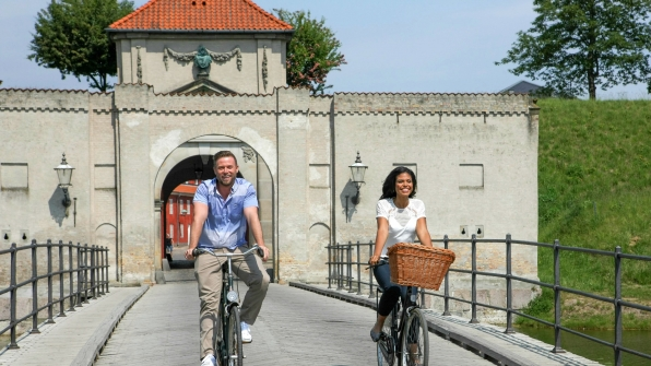 Jacob Young and Karla Mosley went for a relaxing bike ride in Denmark.