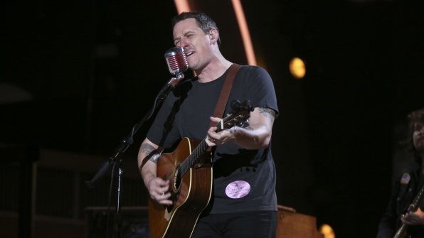 Country crooner and two-time 2017 GRAMMY nominee Sturgill Simpson steps up to the mic.