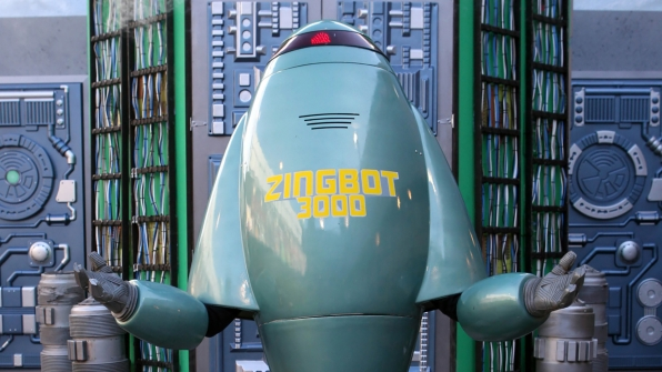 Meet Zingbot, a mechanical menace that ejects sick burns.