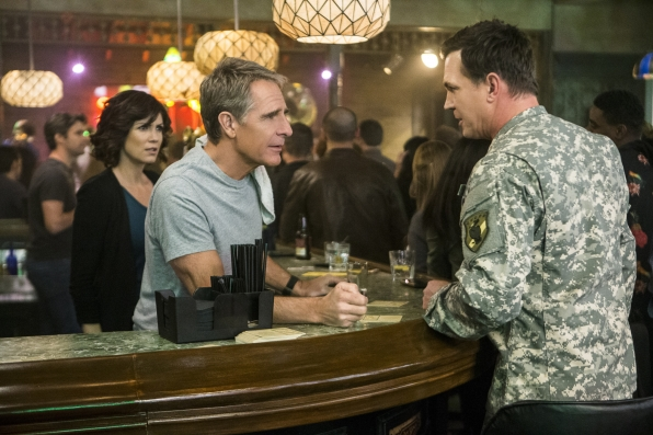 "Zoe McLellan as Special Agent Meredith ""Merri"" Brody, Scott Bakula as Special Agent Dwayne Pride, and Nicholas Lea as Army Colonel Samuel Nilsen"