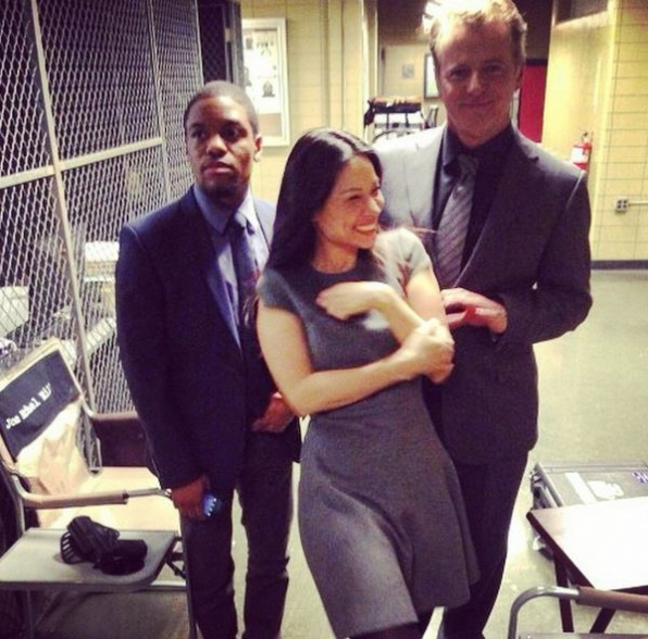 Elementary Instagram: Walking in front of Aidan Quinn is always dangerous!