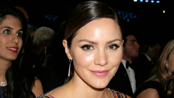 Scorpion actress Katharine McPhee appears angelic the 2017 GRAMMY Awards.