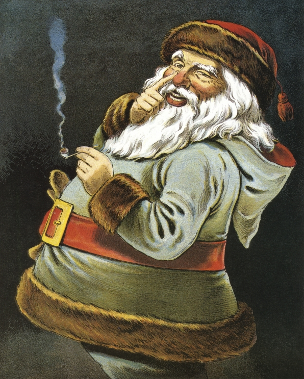 If you want a bad boy Santa, give him back his pipe.