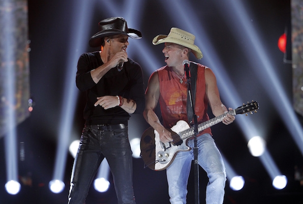 7. The biggest country music collaborations take place on stage at the ACMs every year.