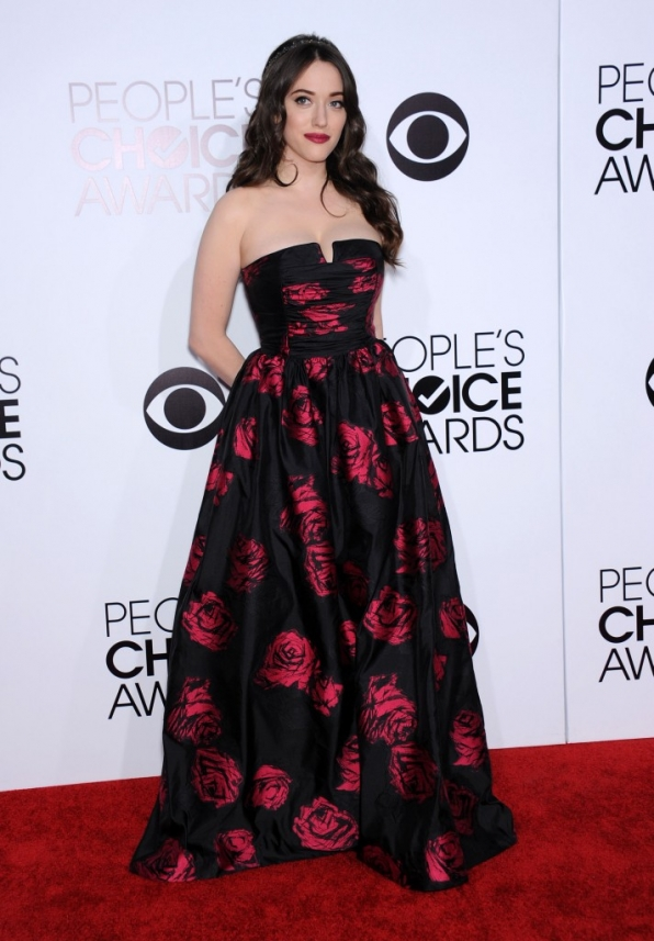 25. The 2014 People's Choice Awards nominee comes up smelling like a rose on the red carpet