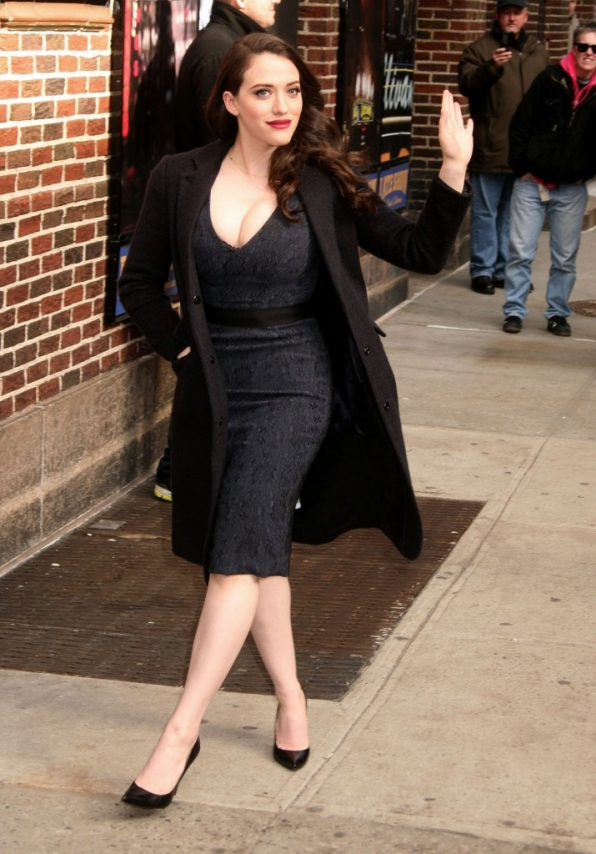 24. She rewards fans by looking fabulous when she shows up early for The Late Show