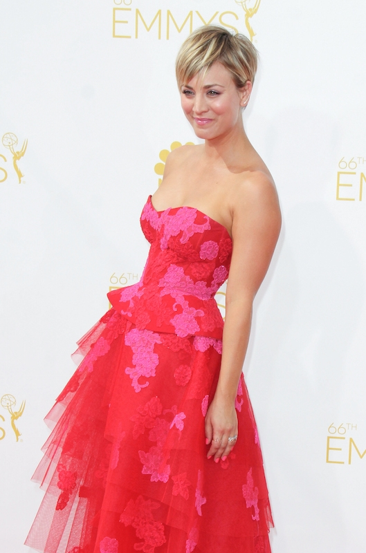 3. She looks perfect in pink with her pixie cut