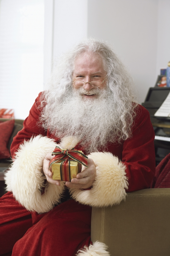 Santa should look a little like a homeless man.