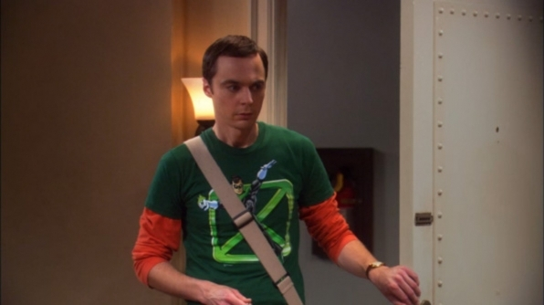 Sheldon Cooper's Green Cross shirt from The Big Bang Theory
