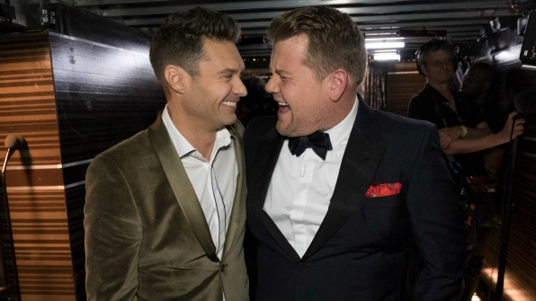 Ryan Seacrest and James Corden sure know a thing or two about hosting.