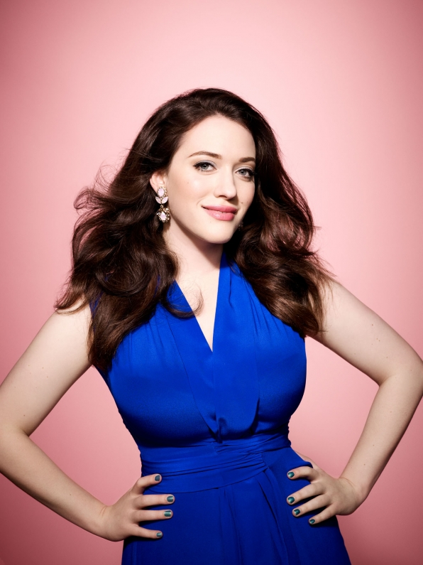 On Kat Dennings, blue Christmas is a good thing