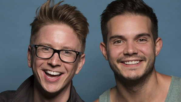 Tyler Oakley and Korey Kuhl from The Amazing Race