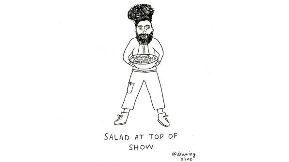 Salad At Top Of Show