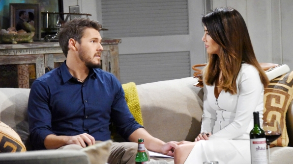 Steffy and Liam reminisce about their past weddings while preparing for their next one.