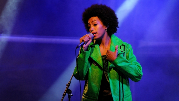 """Solange weathers the storm with """"Cranes In The Sky."""""""