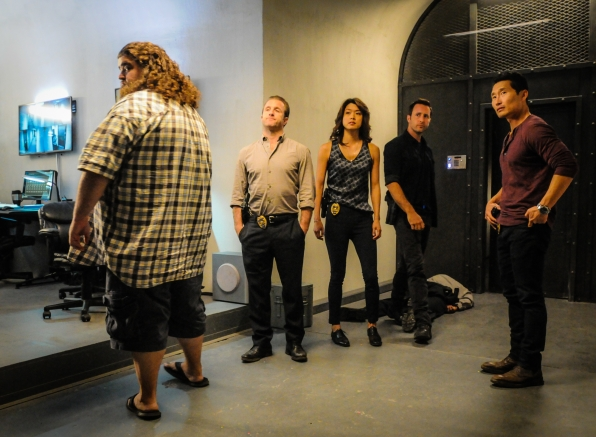 "Jorge Garcia as Jerry Ortega, Scott Caan as Danny ""Danno"" Williams, Grace Park as Kono Kalakaua, Alex O'Loughlin as Steve McGarrett and Daniel Dae Kim as Chin Ho Kelly"