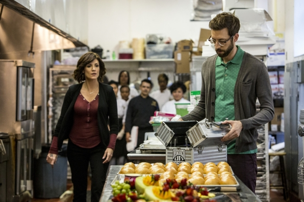 "Zoe McLellan as Special Agent Meredith ""Merri"" Brody and Rob Kerkovich as Sebastian Lund"