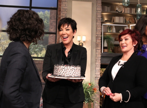 4. Celebrating with Kris Jenner.