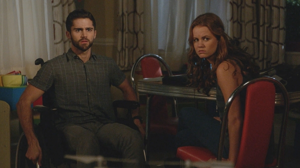 Max Ehrich as Hunter and Mackenzie Lintz as Norrie Calvert-Hill.