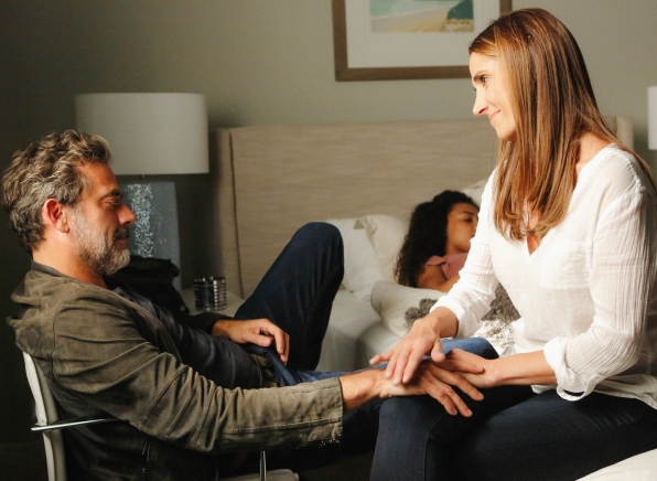 Jeffrey Dean Morgan as JD Richter, McKenna Roberts as Terra, and Melina Kanakaredes.