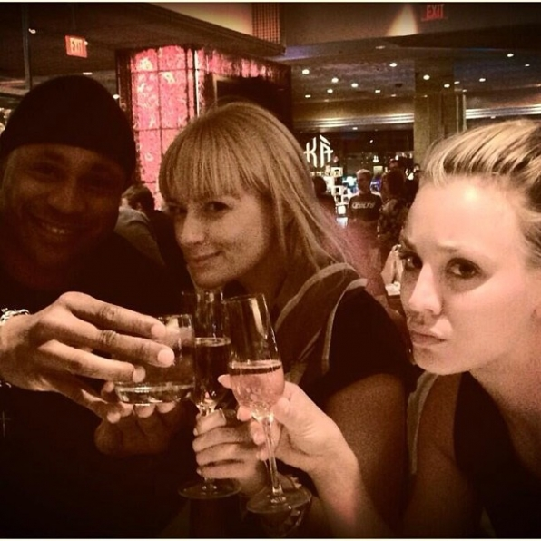 LL Cool J, Beth Behrs and Kaley Cuoco Celebrate the ACMs