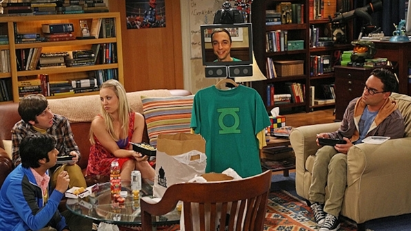 Sheldon Cooper's Green Lantern logo shirt from The Big Bang Theory