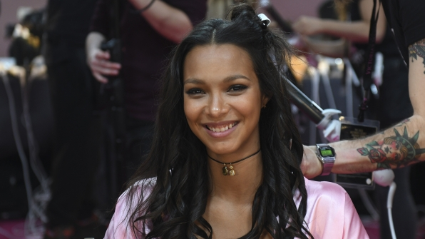 Angel Lais Ribeiro is clearly runway ready with this smile.