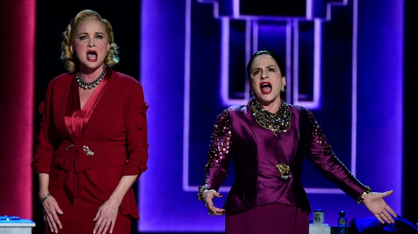 "Christine Ebersole and Patti LuPone perform ""Face to Face"" from War Paint"