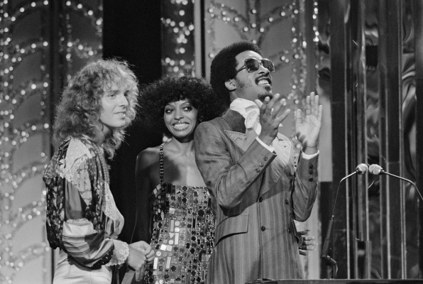 Stevie Wonder in 1976 at the 2nd Annual Rock Music Awards.