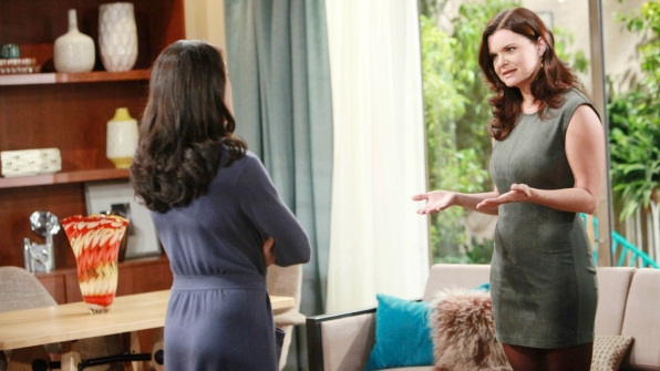 Katie defends herself to Quinn, who questions Katie's motive behind making a major purchase.