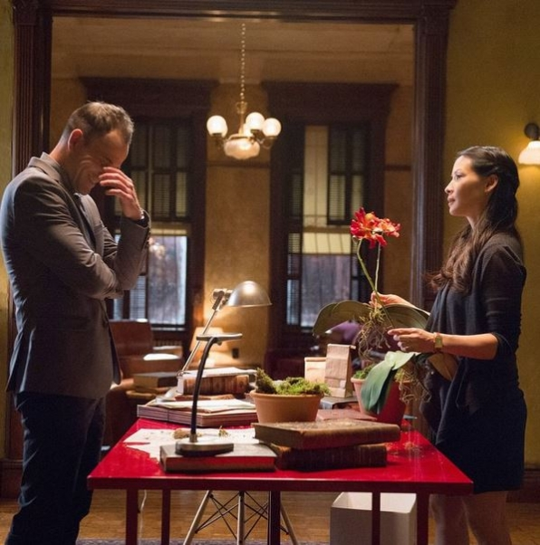 Elementary Instagram: Sometimes it's hard to keep a straight face on set