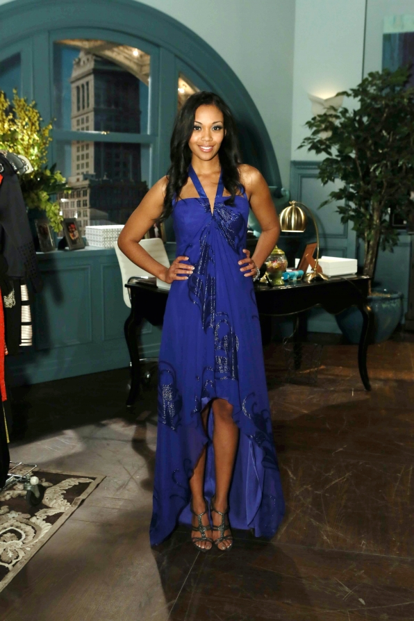 Blue dress hillary young